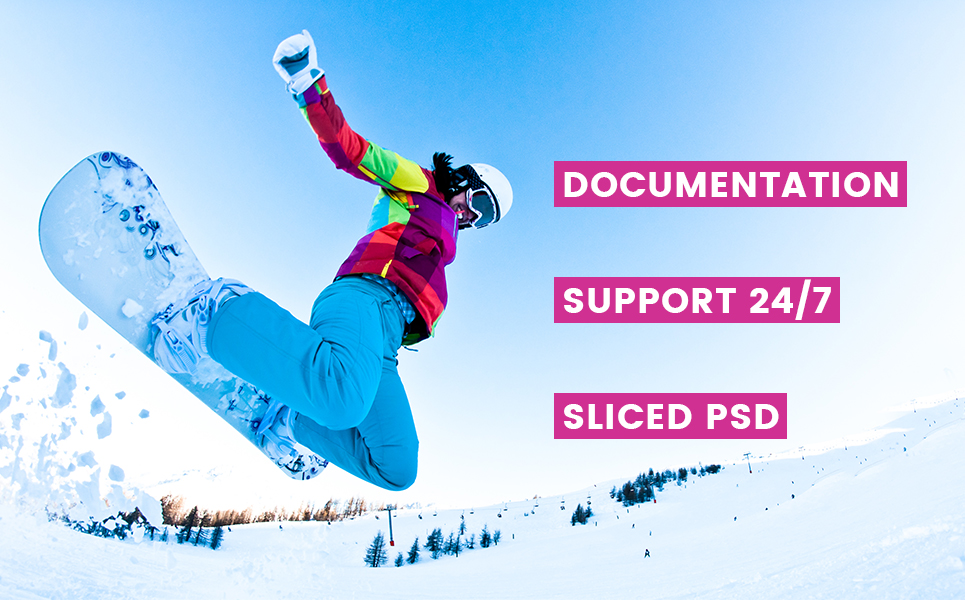SnowSport - Extreme Sports Gear Magento Theme