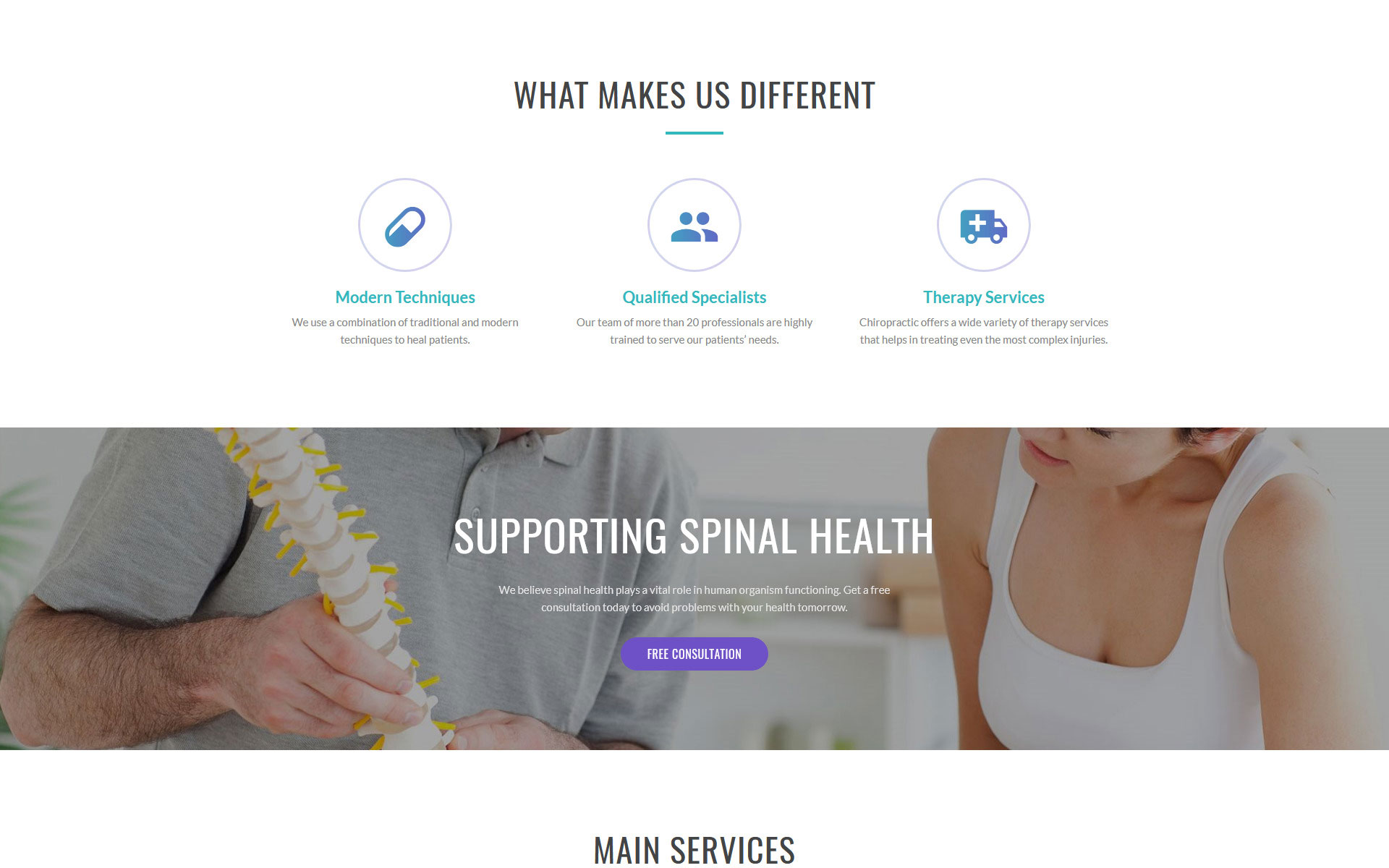 Spinecare - Medical Ready-to-Use Website Template