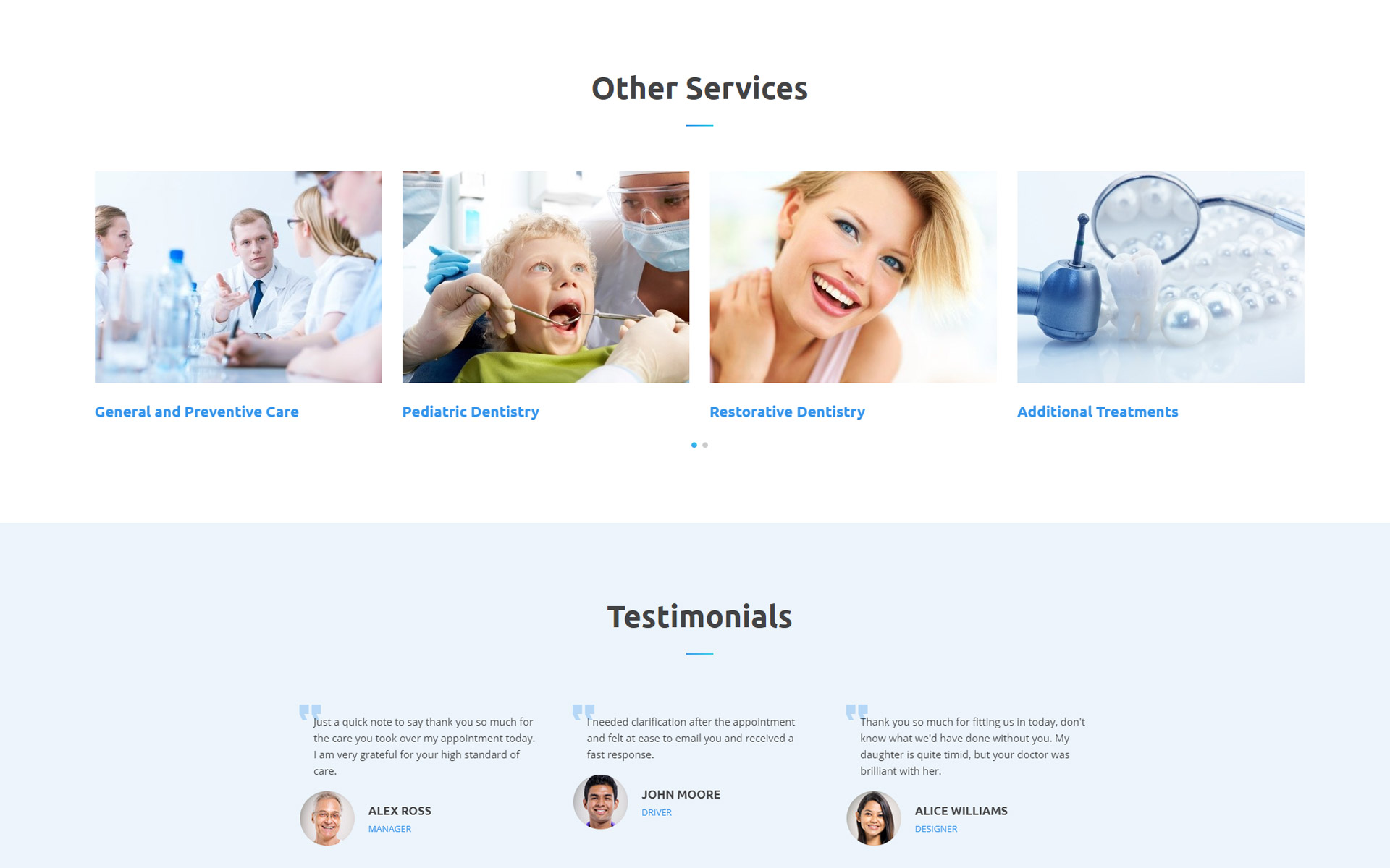 DentaCare - Dental Clinic Ready-To-Use Website Template