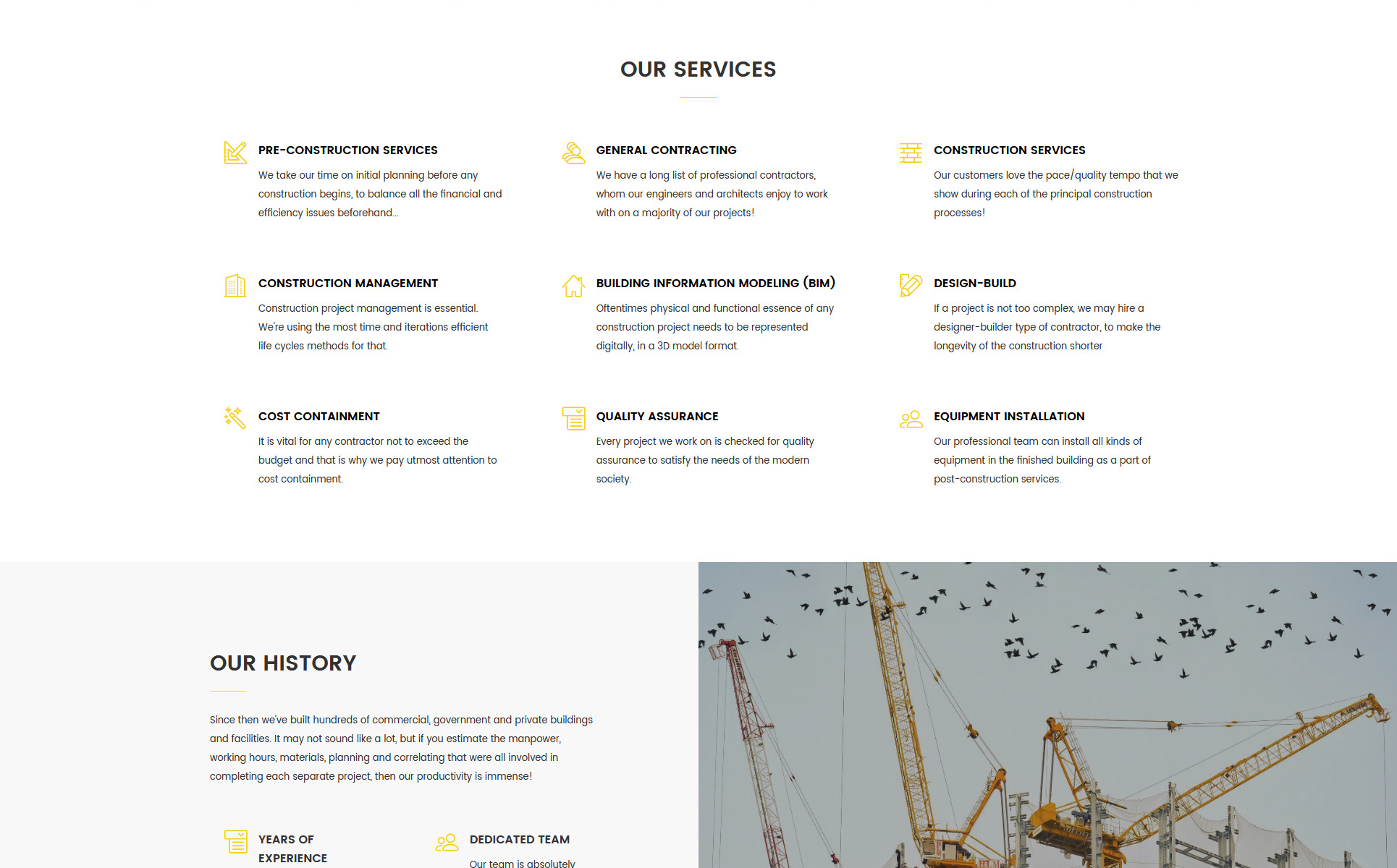 Quarter - Construction Ready-to-Use Website Template