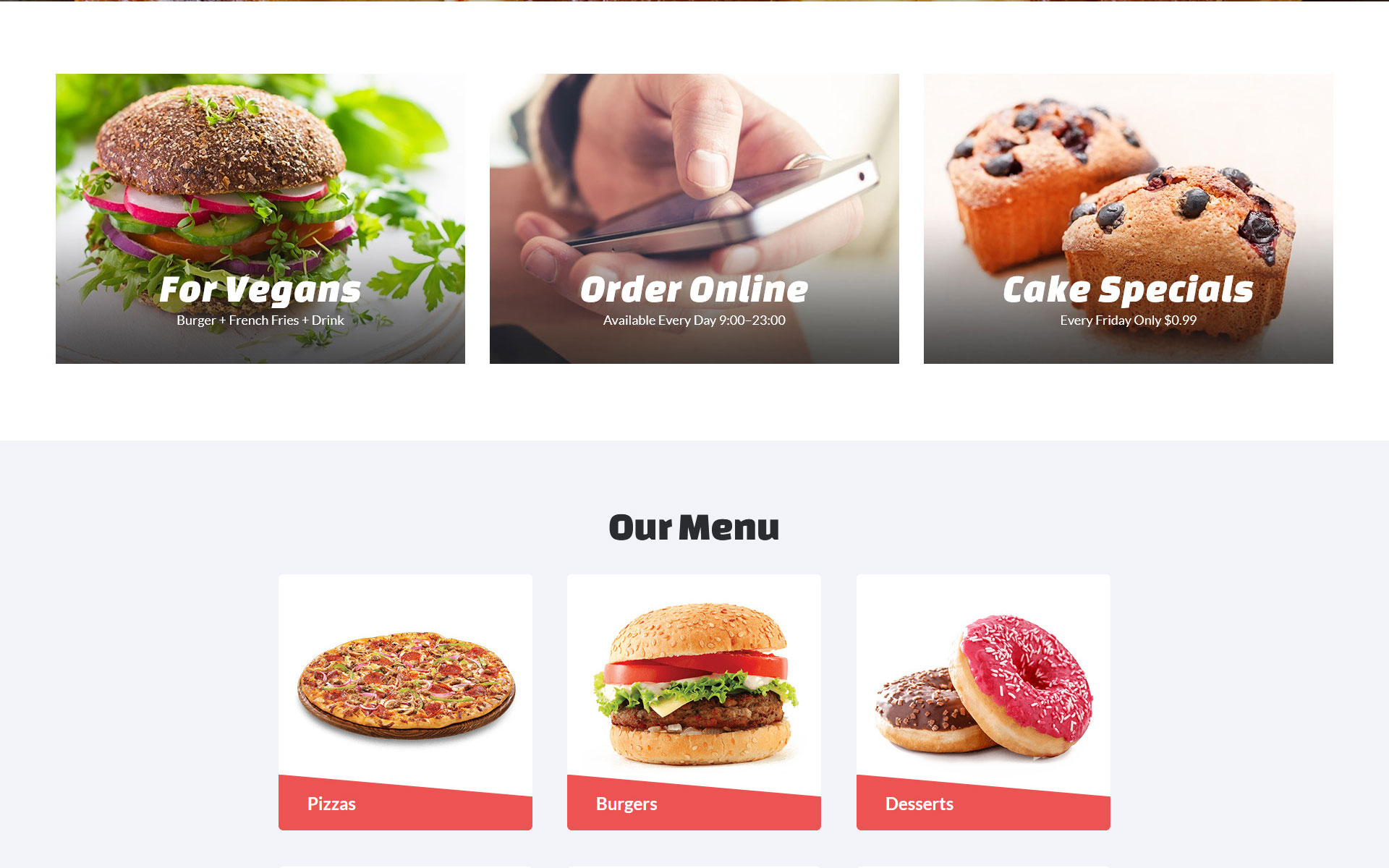 Fasteria - Restaurant Ready-to-Use Website Template