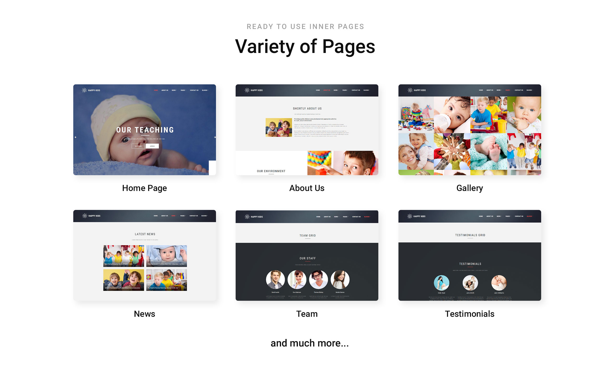 Happy Kids Website Template