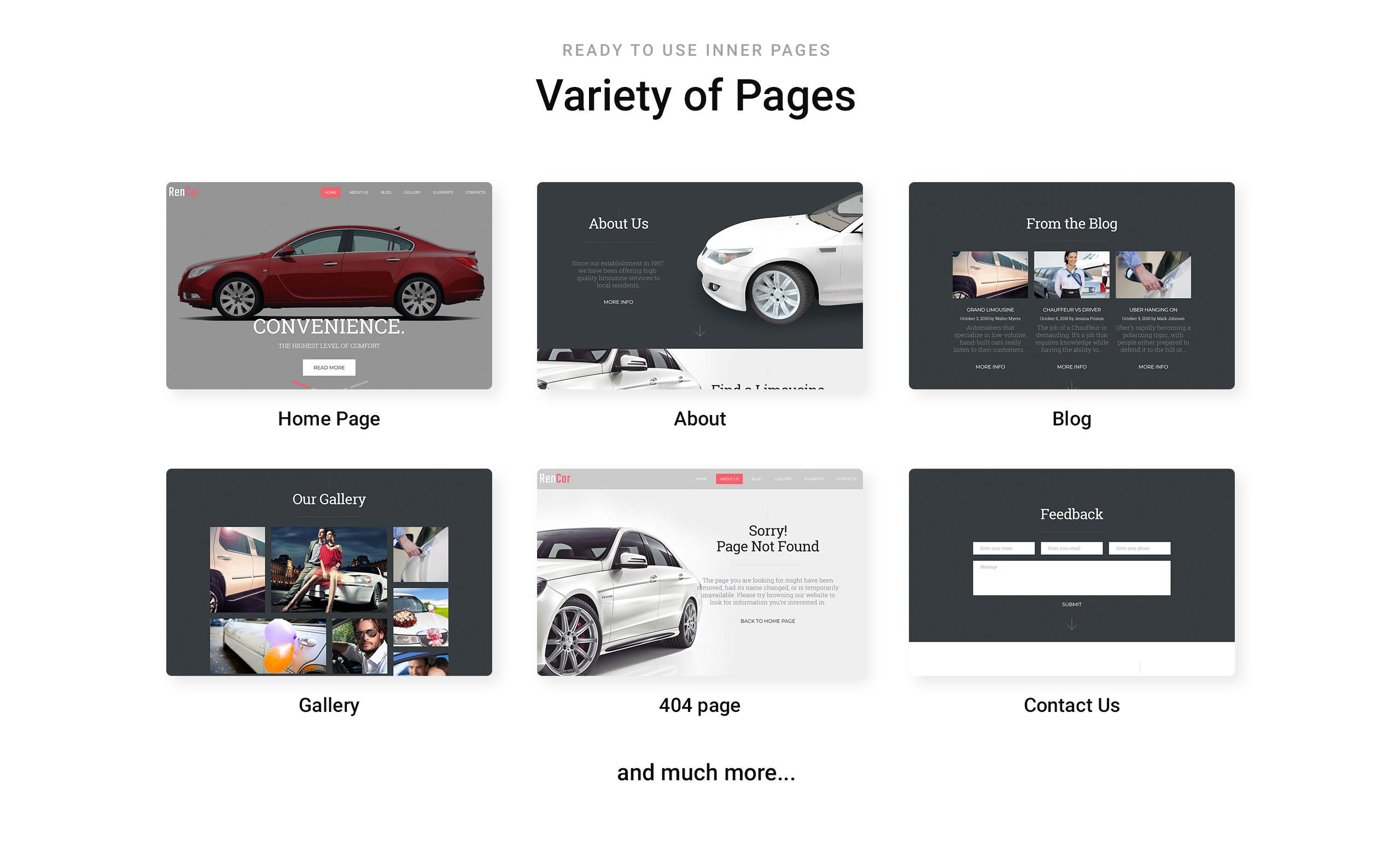 RenCar Website Template