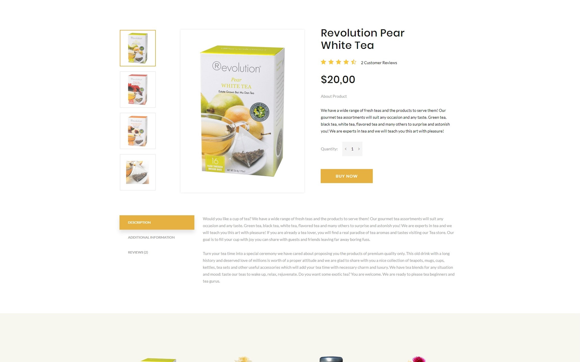 TEA Production - Tea Shop Multipage Modern HTML Website Template