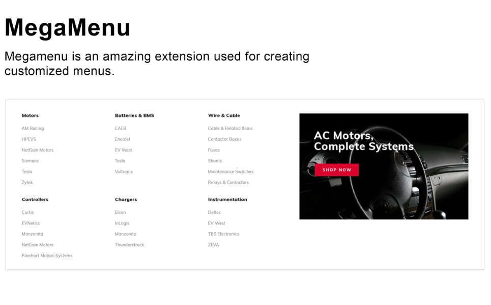 Volta - Electric Vehicles Parts and Components Minimal Magento Theme