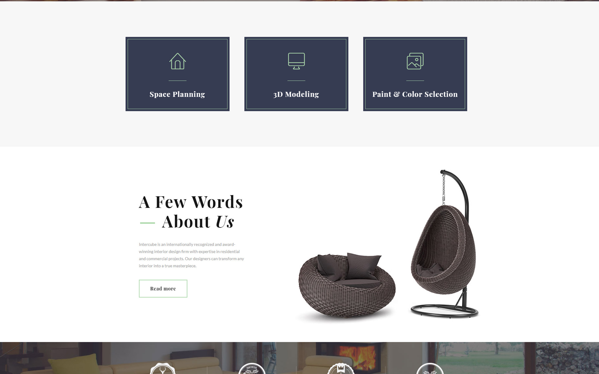 Intercube - Interior Design Ready-to-Use Modern HTML5 Website Template