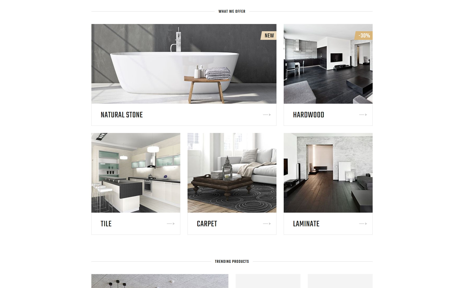 Flooria - Flooring One Page Clean HTML Landing Page Template