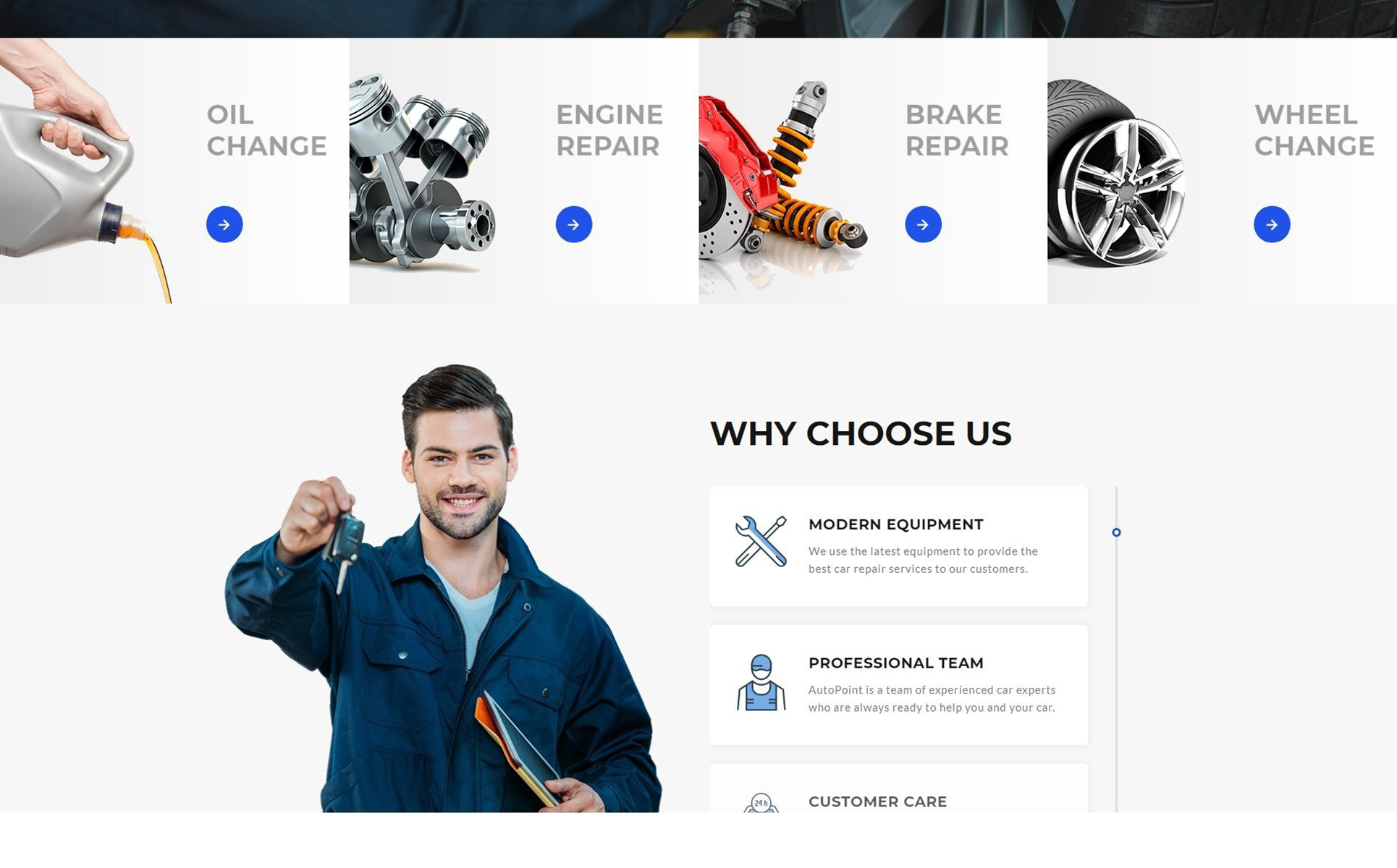 Autopoint - Car Repair Multipage Creative HTML Website Template