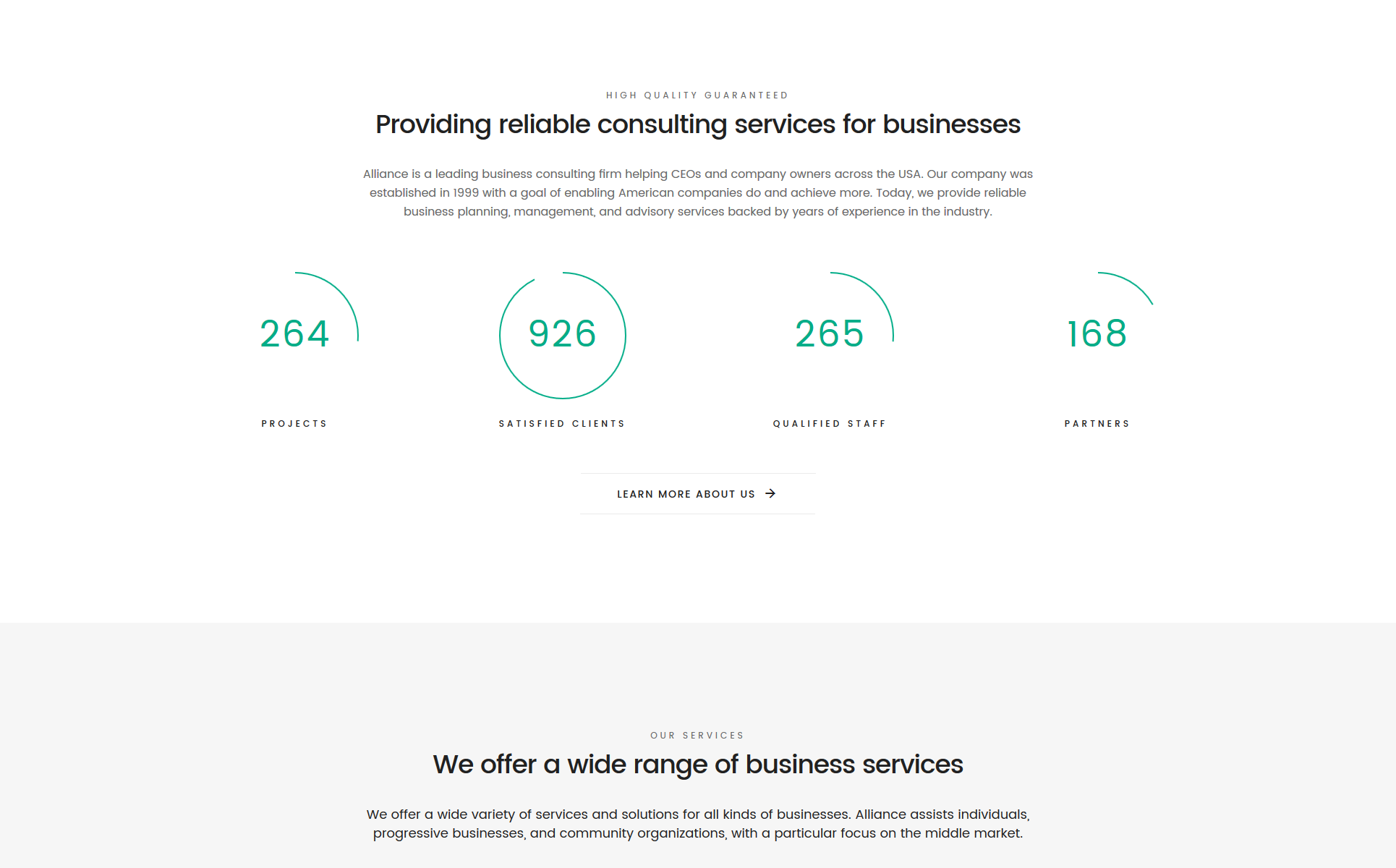 Alliance - Management & Consulting Modern HTML5 Landing Page Template