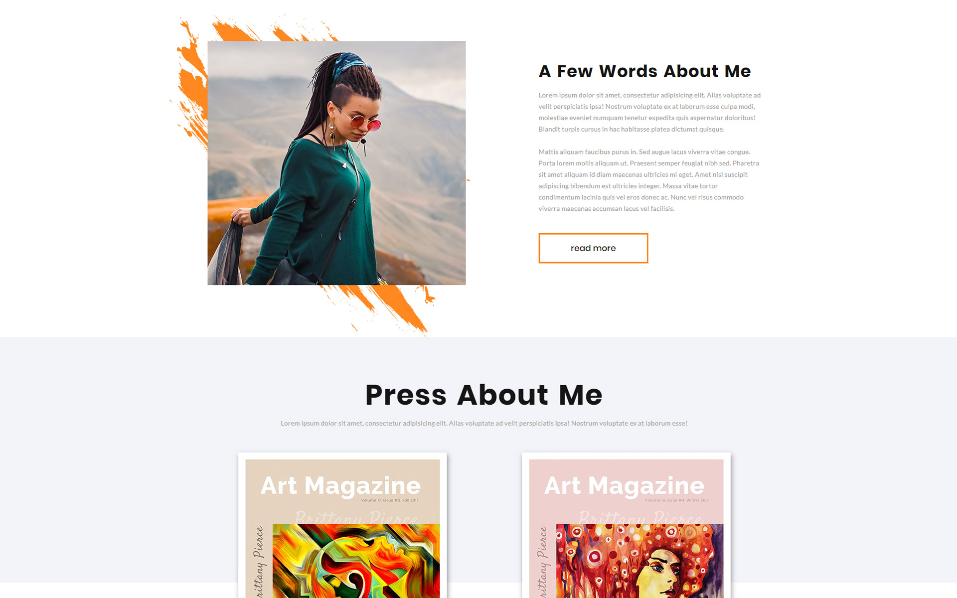 Jasmine Mills - Art Ready-to-Use Creative HTML Website Template