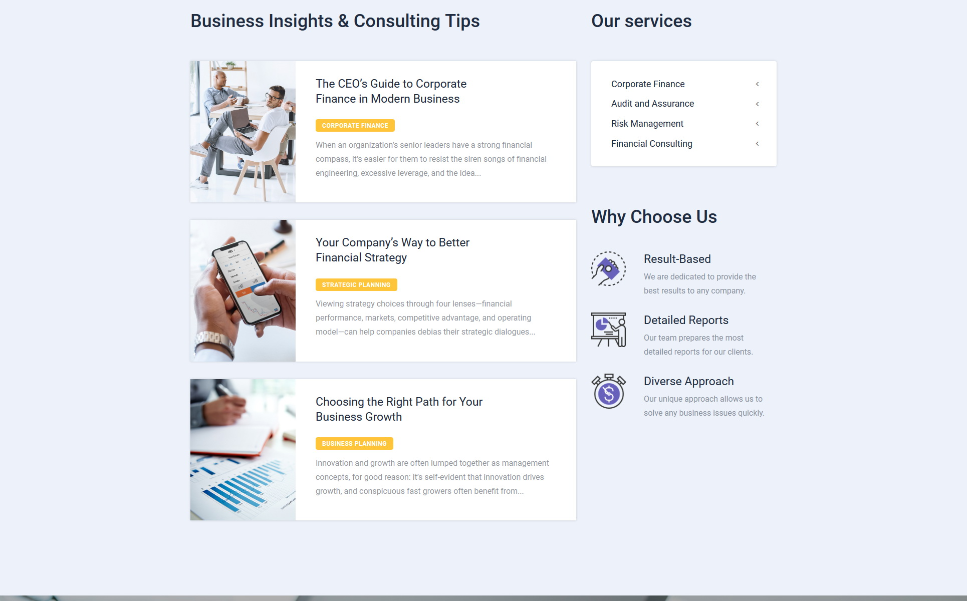 Finway - Financial Advisory Clean Multipage HTML5 Website Template