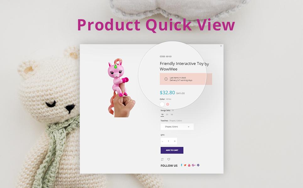 ToysStore - Kids Play Games Store Clean Bootstrap PrestaShop Theme