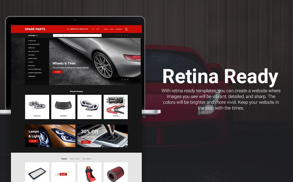 Spare Parts - Automobile Replacement Parts Clean Bootstrap Ecommerce PrestaShop Theme