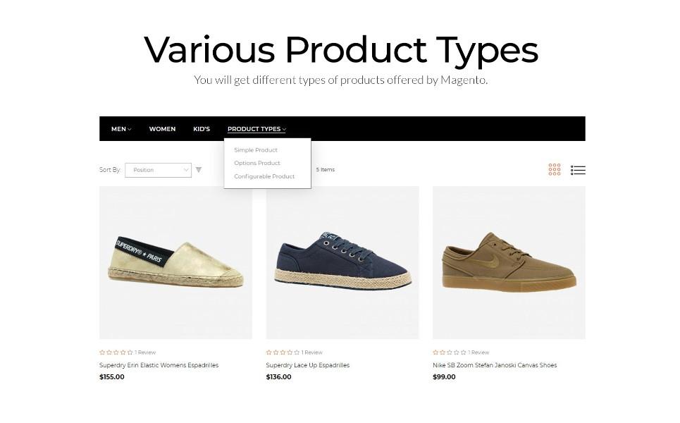 Predion - eCommerce Simple Shoe Store Magento Theme