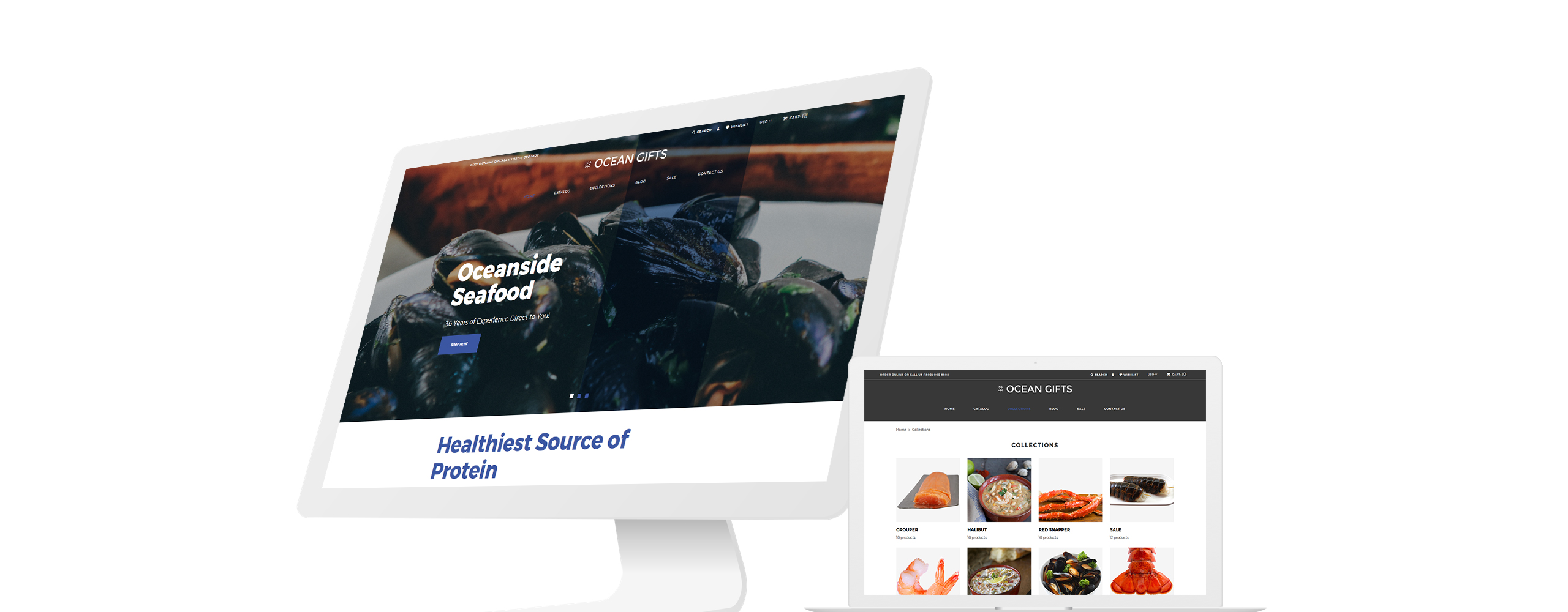 Ocean Gifts - Sea Food Shop Modern Shopify Theme