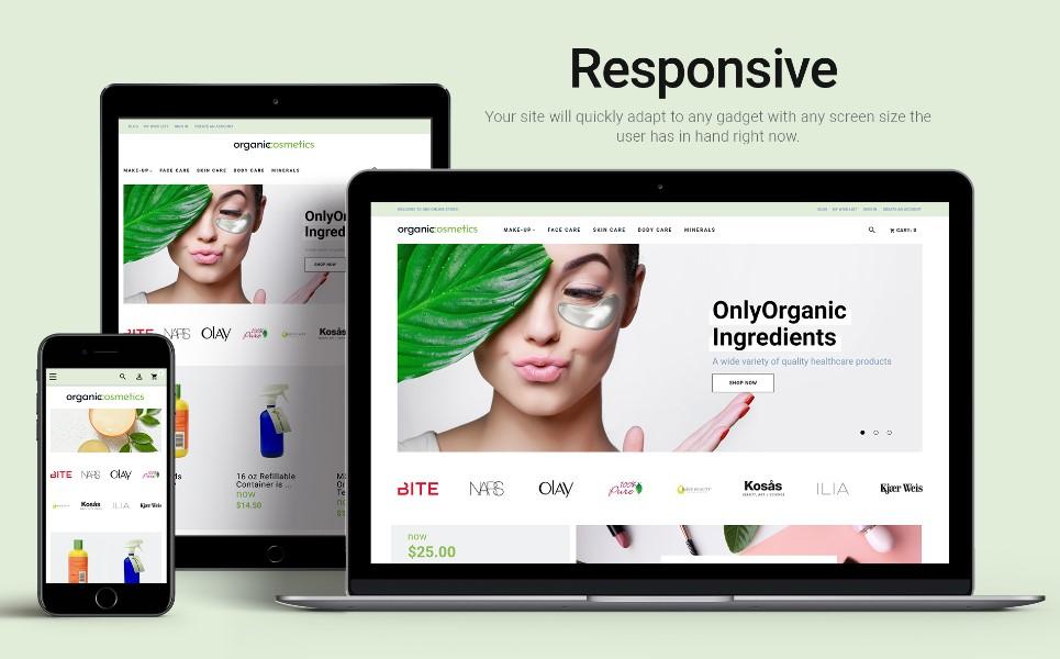 OrganicCosmetics - Clean eCommerce Cosmetics Store Magento Theme