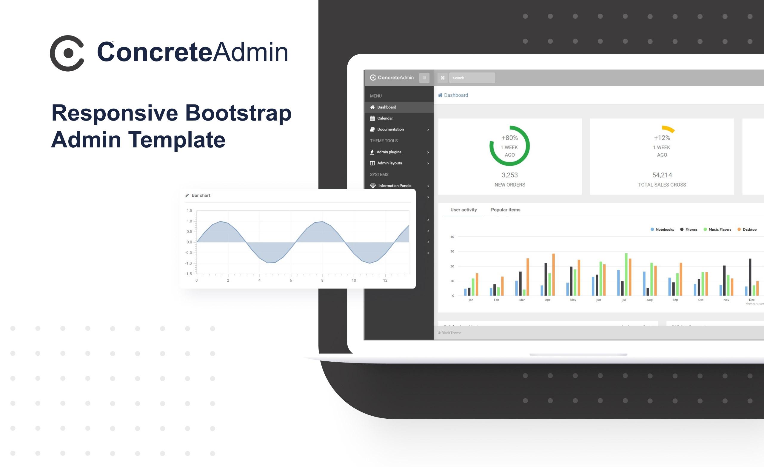 ConcreteAdmin - Clean Dashboard Admin Template