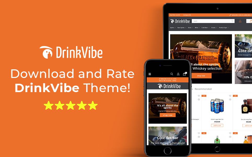DrinkVibe - Liquor Store Ready-to-Use Clean Magento Theme