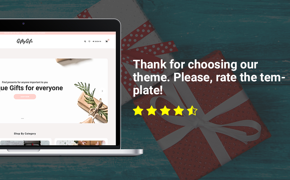 GiftyGifts - Giftware Store Clean Bootstrap Ecommerce PrestaShop Theme