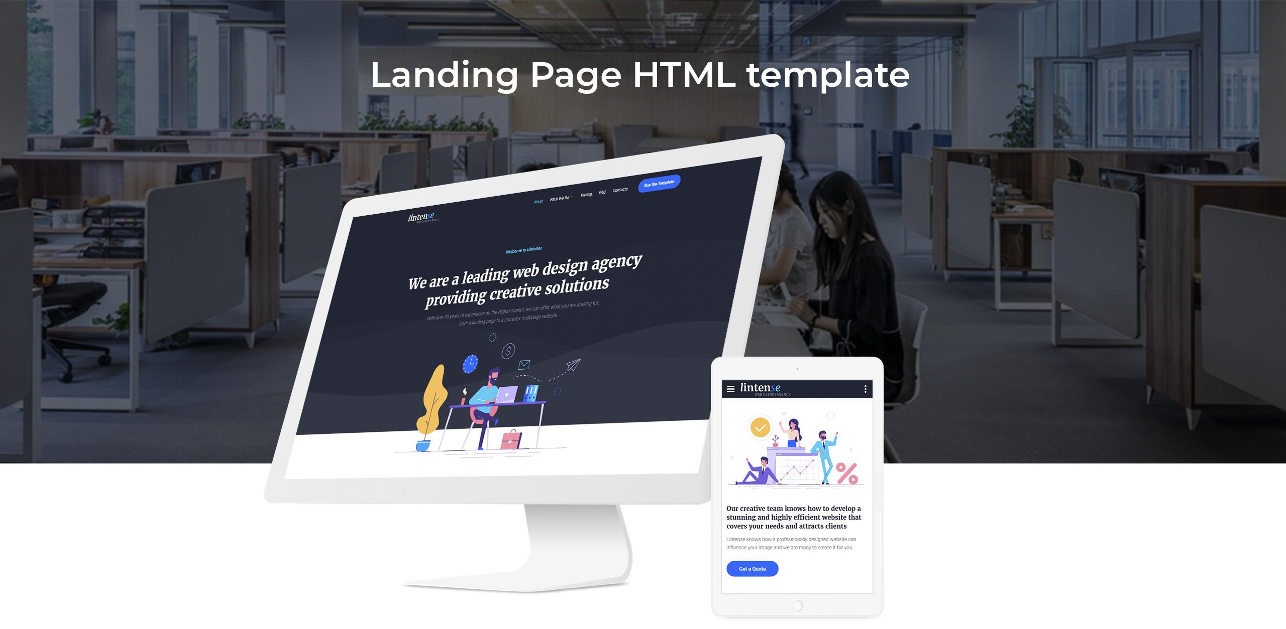 Lintense Corporate - Web Design Agency Creative HTML Landing Page Template