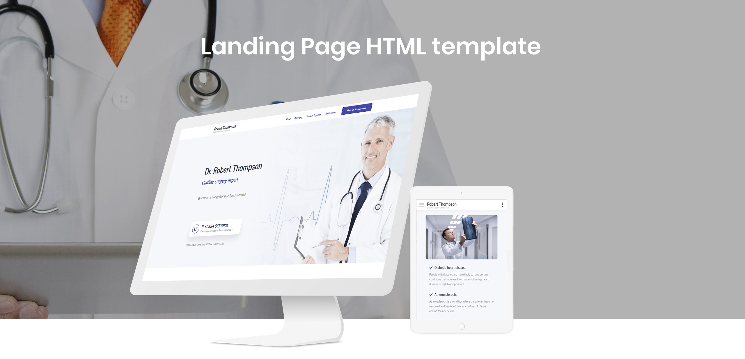 Lintense Doctor - Medical Clean HTML Landing Page Template