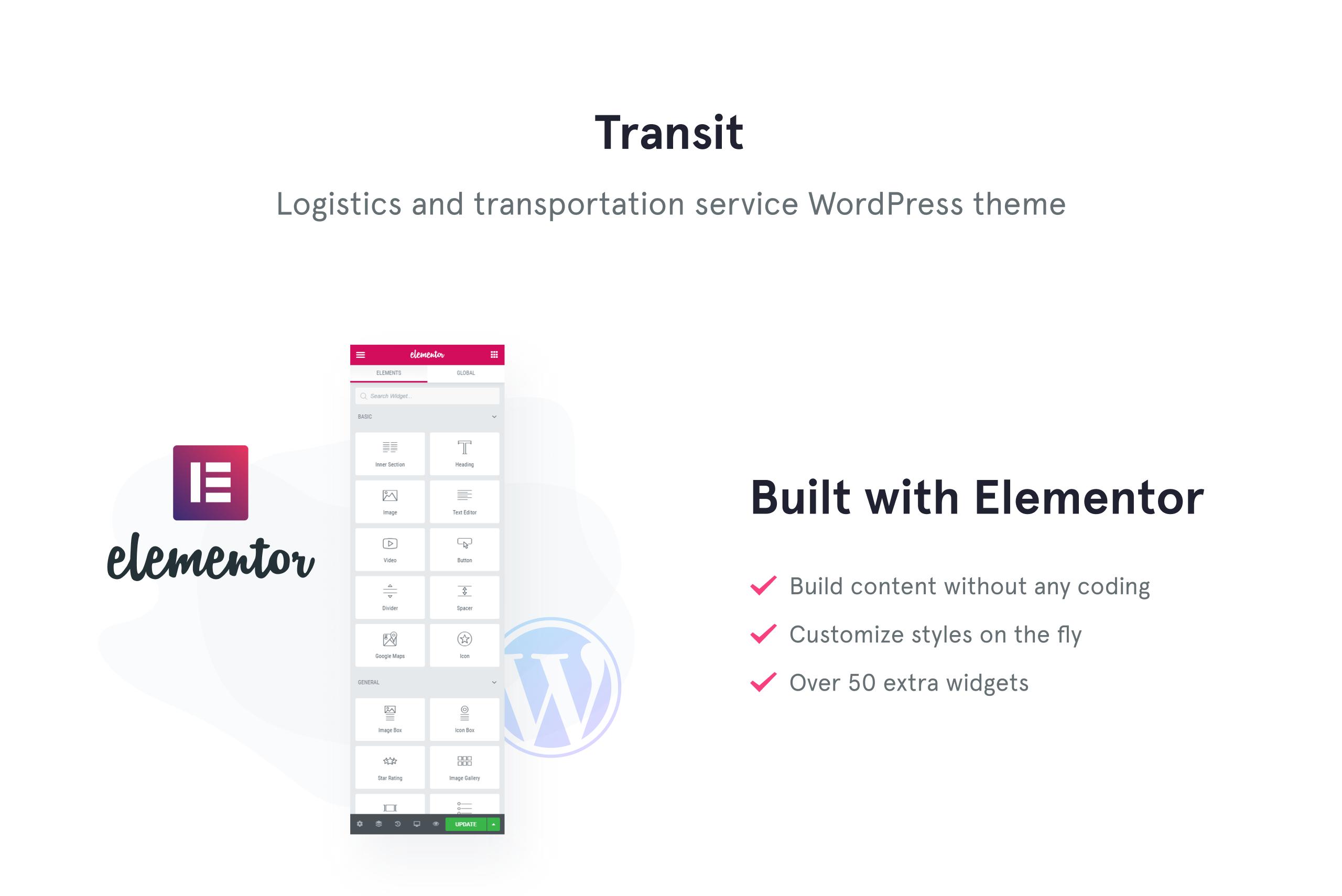 Transit - Logistics and Transportation Service WordPress Theme
