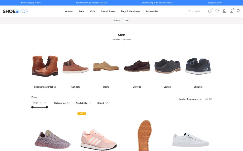 ShoeShop - Boot Shop PrestaShop Theme