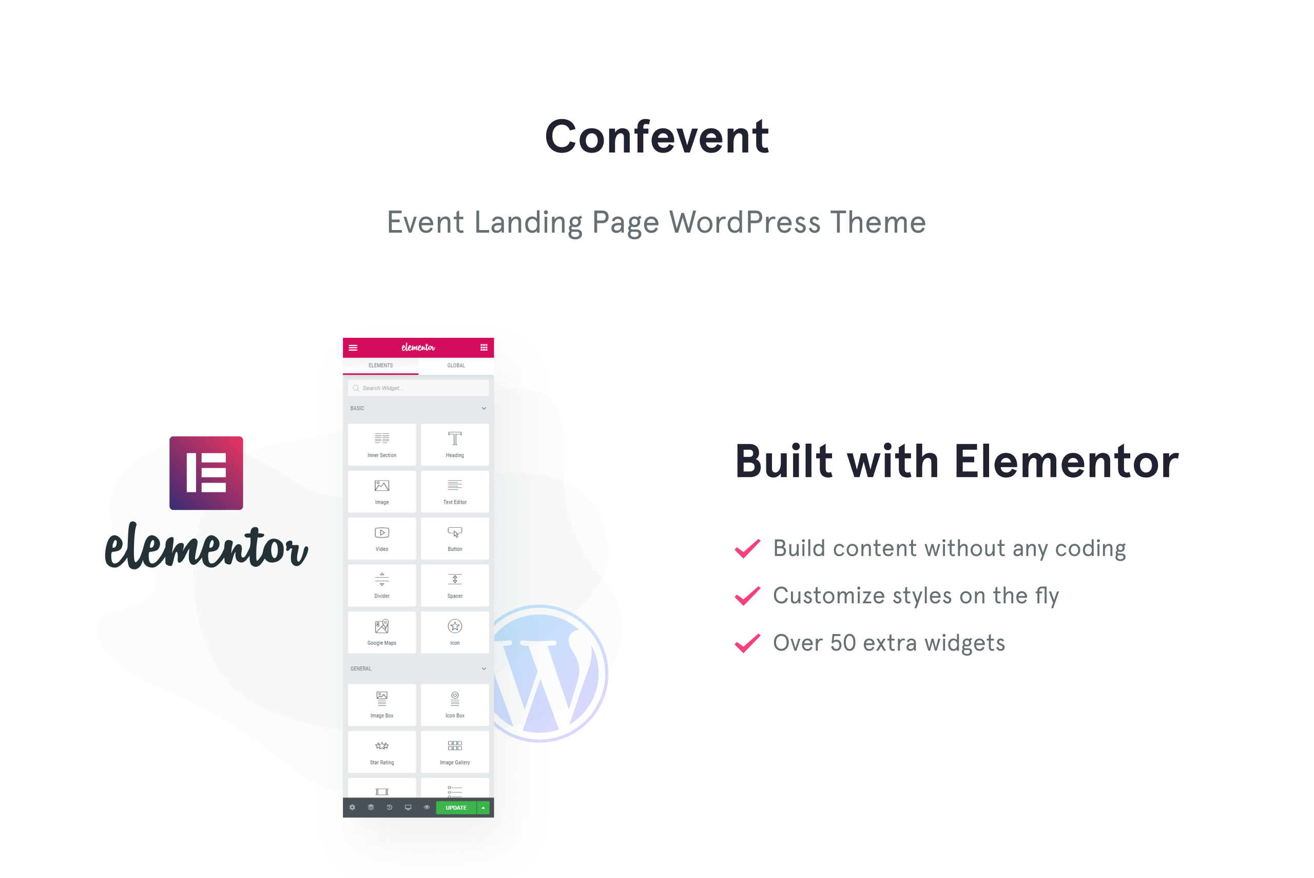 Confevent - Event Landing Page WordPress Theme