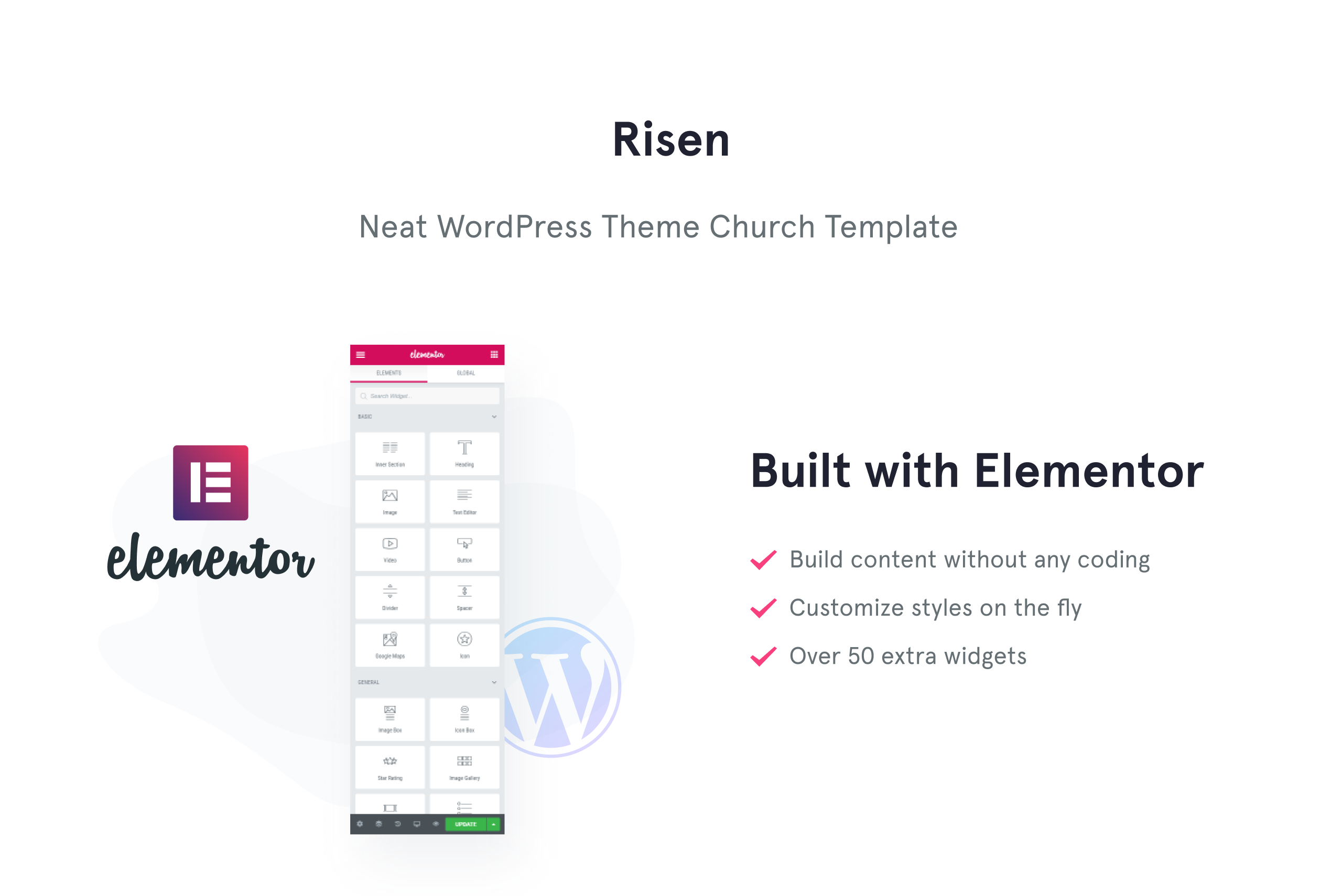 Risen - Neat WordPress Theme Church WordPress Theme