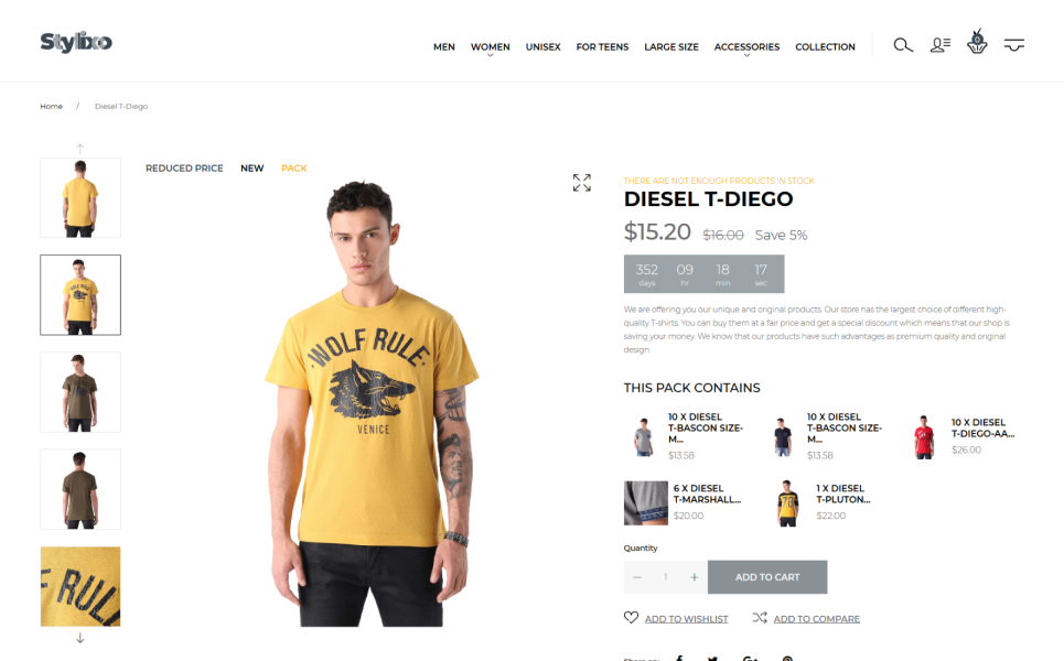 Stylixo - T-Shirt eCommerce Design Theme PrestaShop Theme