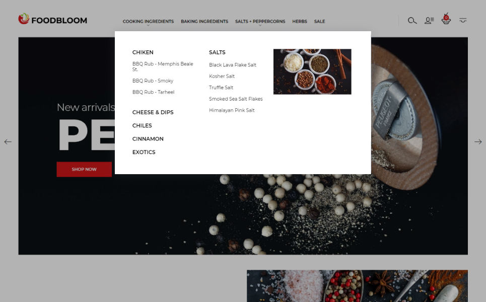 FoodBloom - Spices Store eCommerce Template PrestaShop Theme