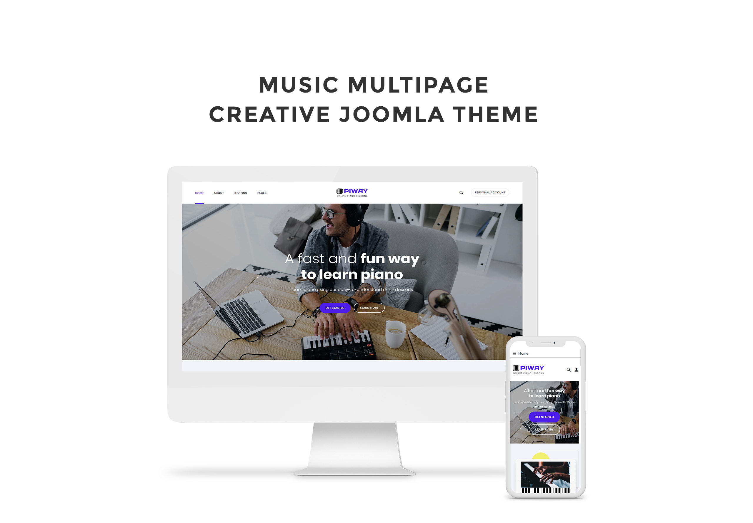 Piway - Music Multipage Creative Joomla Template