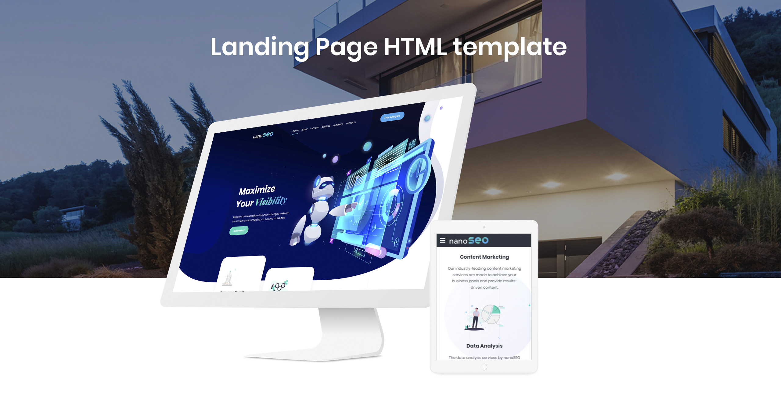 nanoSEO - SEO Business Landing Page Template