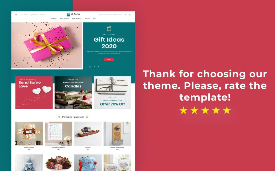 Mr Perks - Gifts Store Template PrestaShop Theme
