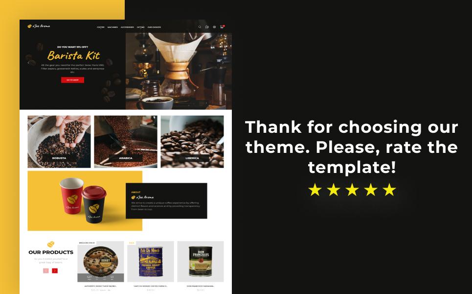 o`Joe Aroma - Coffee Online Shop Template PrestaShop Theme