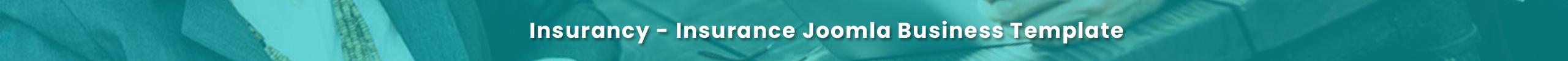 Insurancy Joomla Template