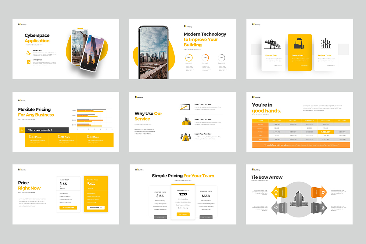 Building Presentation PowerPoint Template