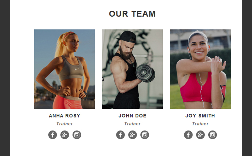 Fitness - Responsive Newsletter Template