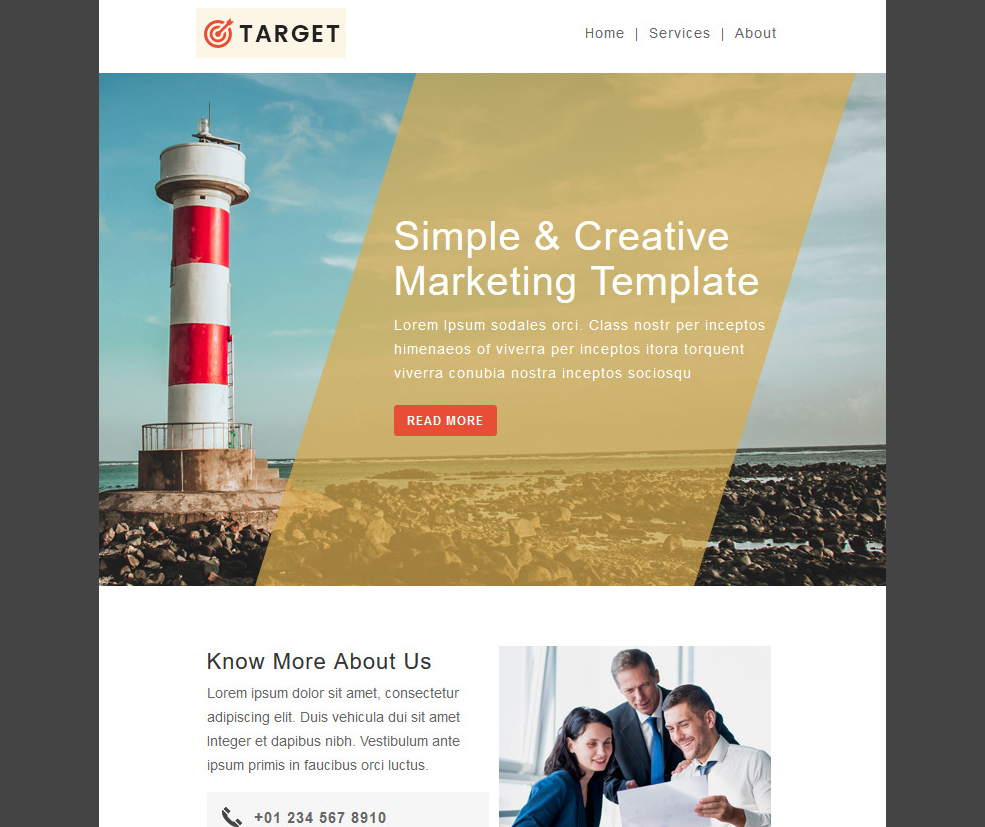 Target - Responsive Email Newsletter Template