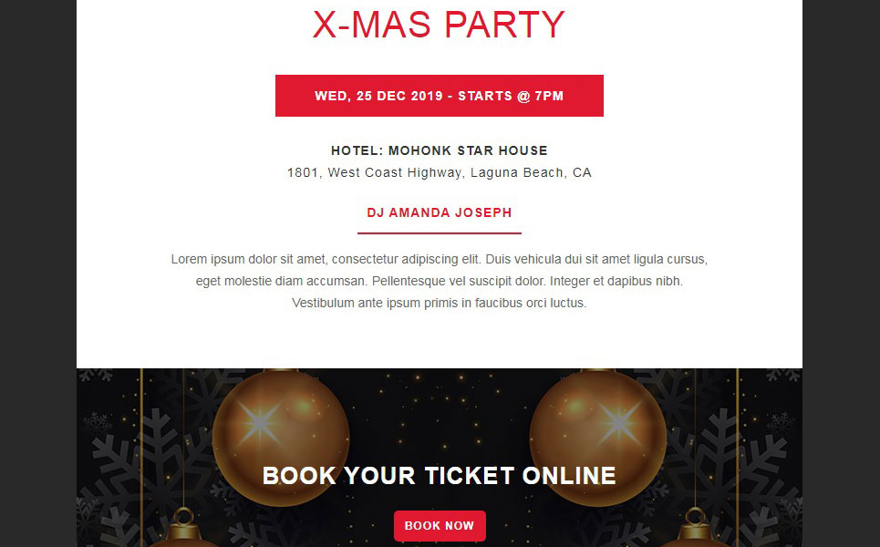 X-MAS - Christmas Responsive Email Newsletter Template