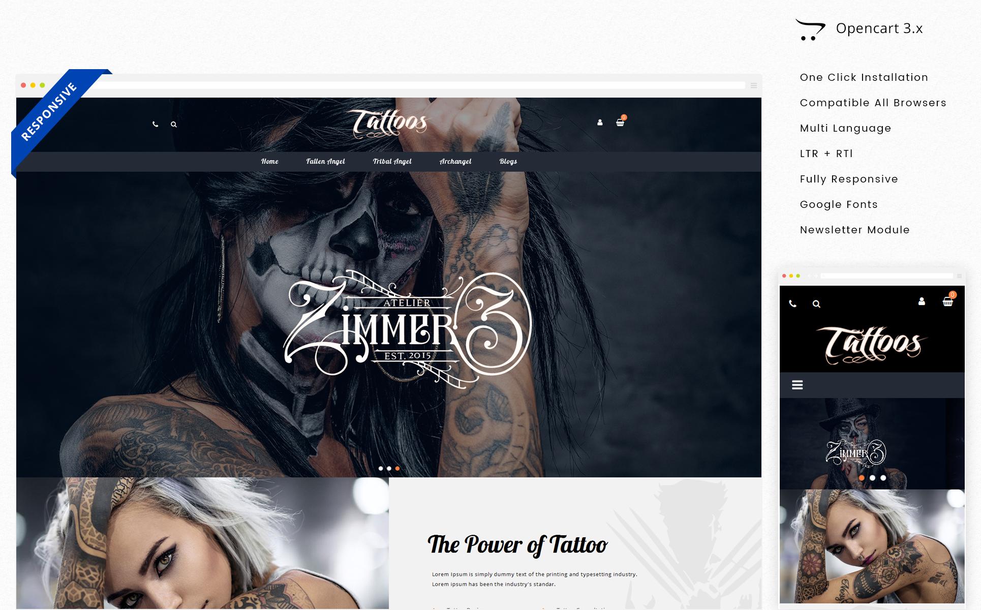 Tattoos OpenCart Template