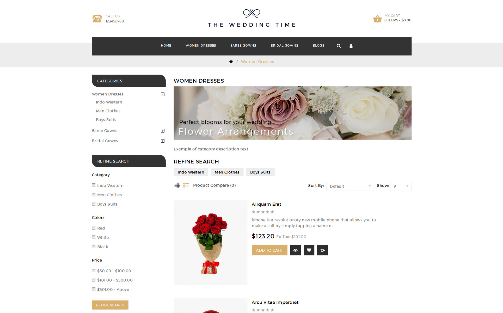 The Wedding Time Responsive OpenCart Template