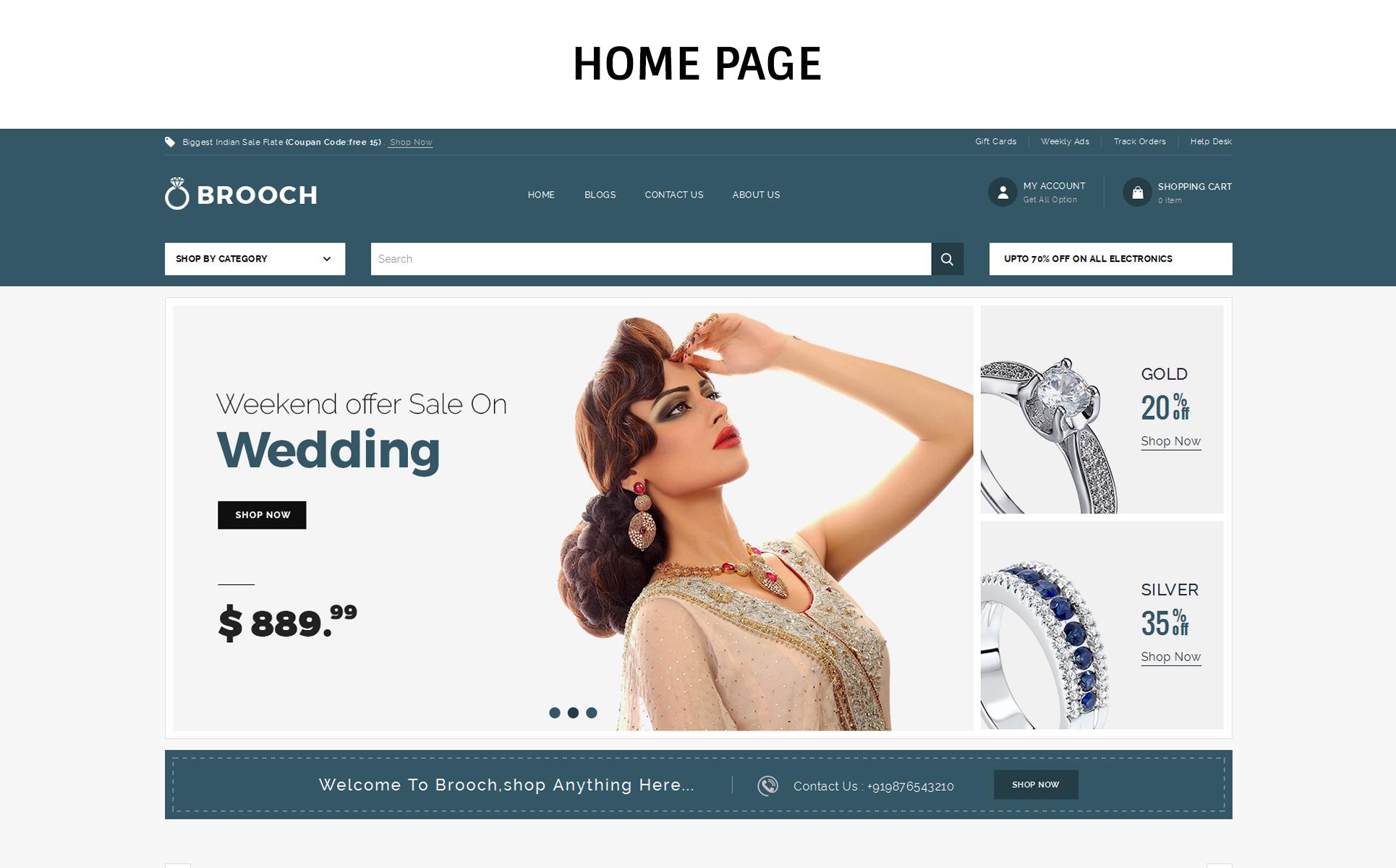 Brooch Jewellery - Responsive OpenCart Template
