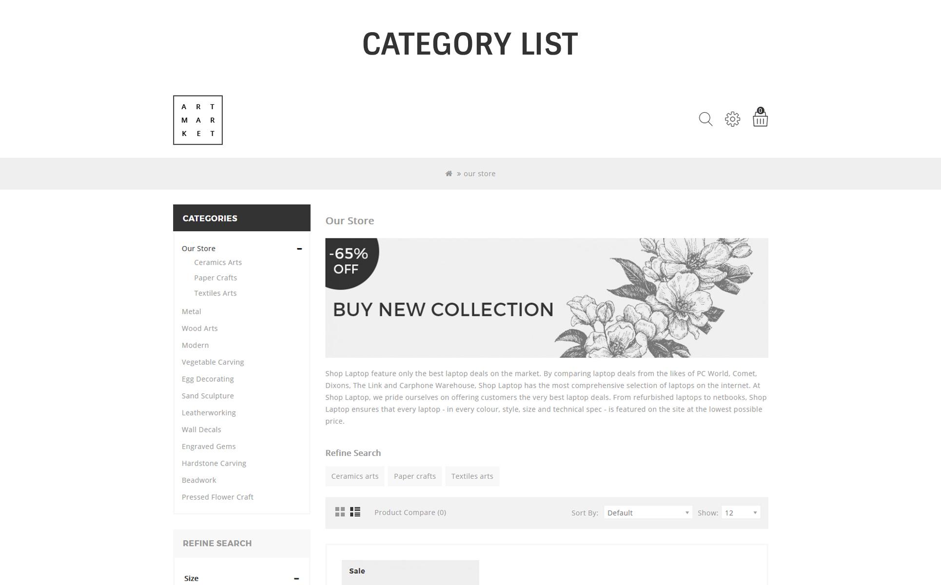 Art & graphy OpenCart Template