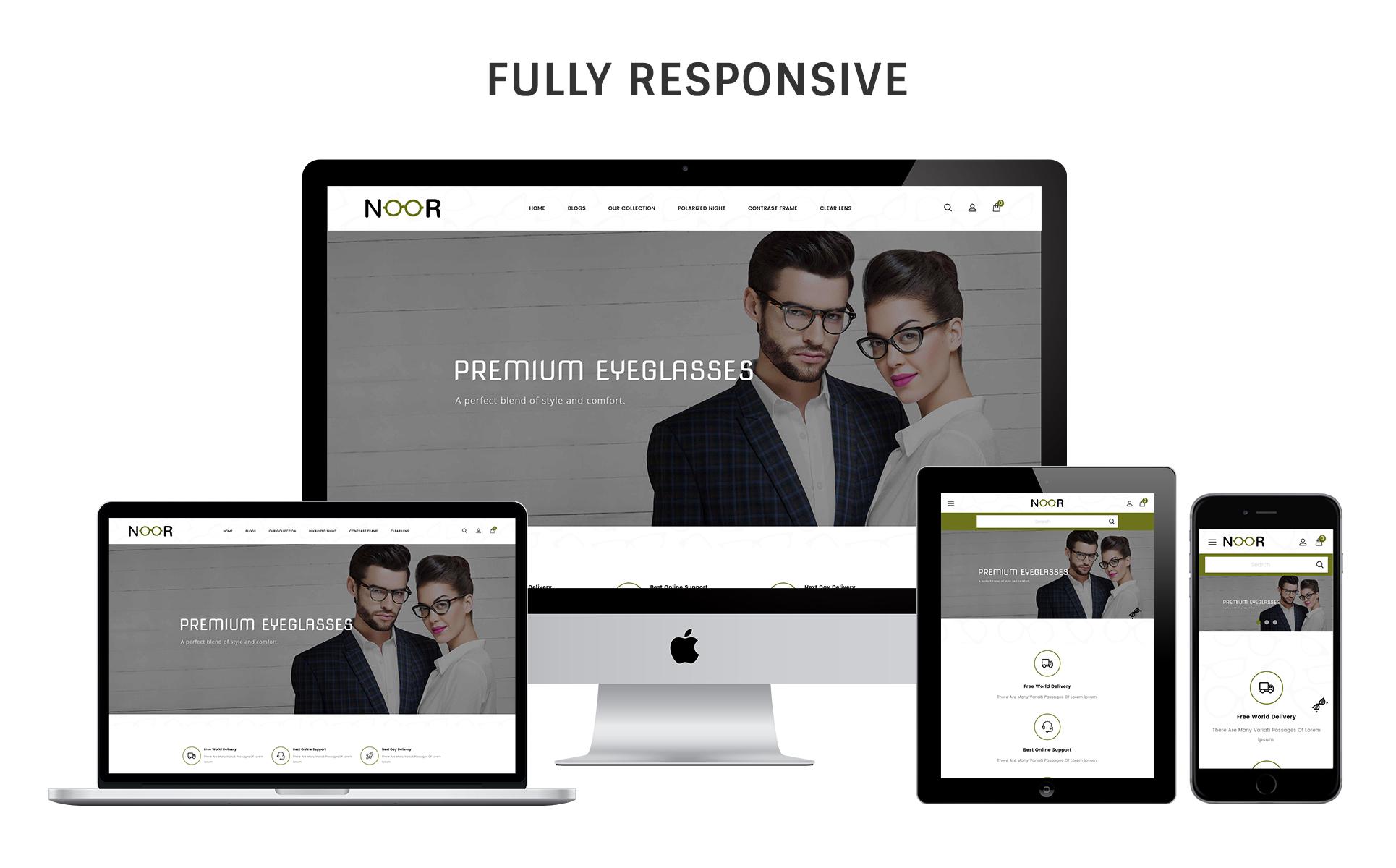 Noor - The Optical Shop Responsive OpenCart Template