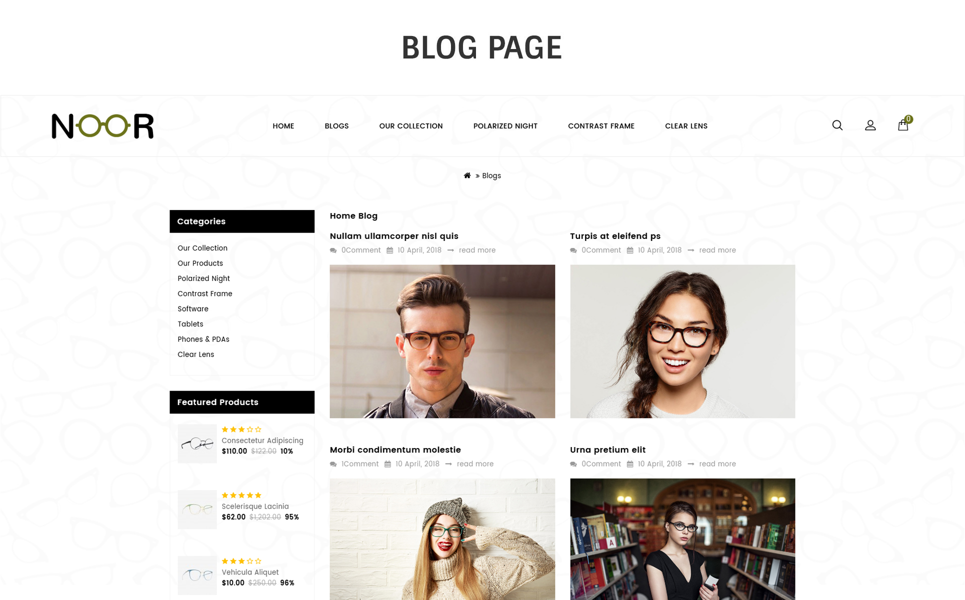 ef27827952 Website Templates For Online Glasses Custom Website Template For Online  Glasses Website Design Templates