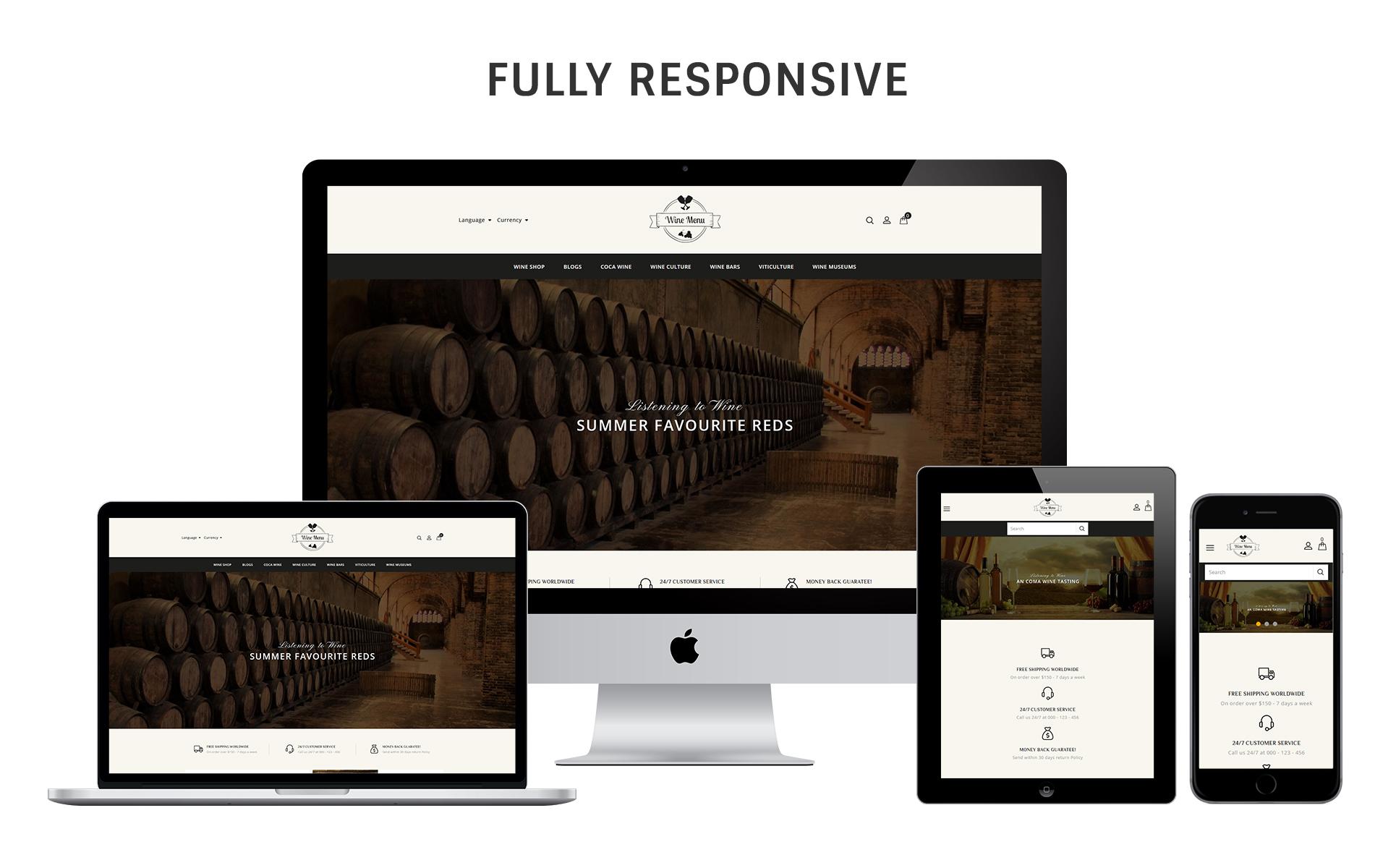 WineMenu - The Wine Shop Responsive OpenCart Template