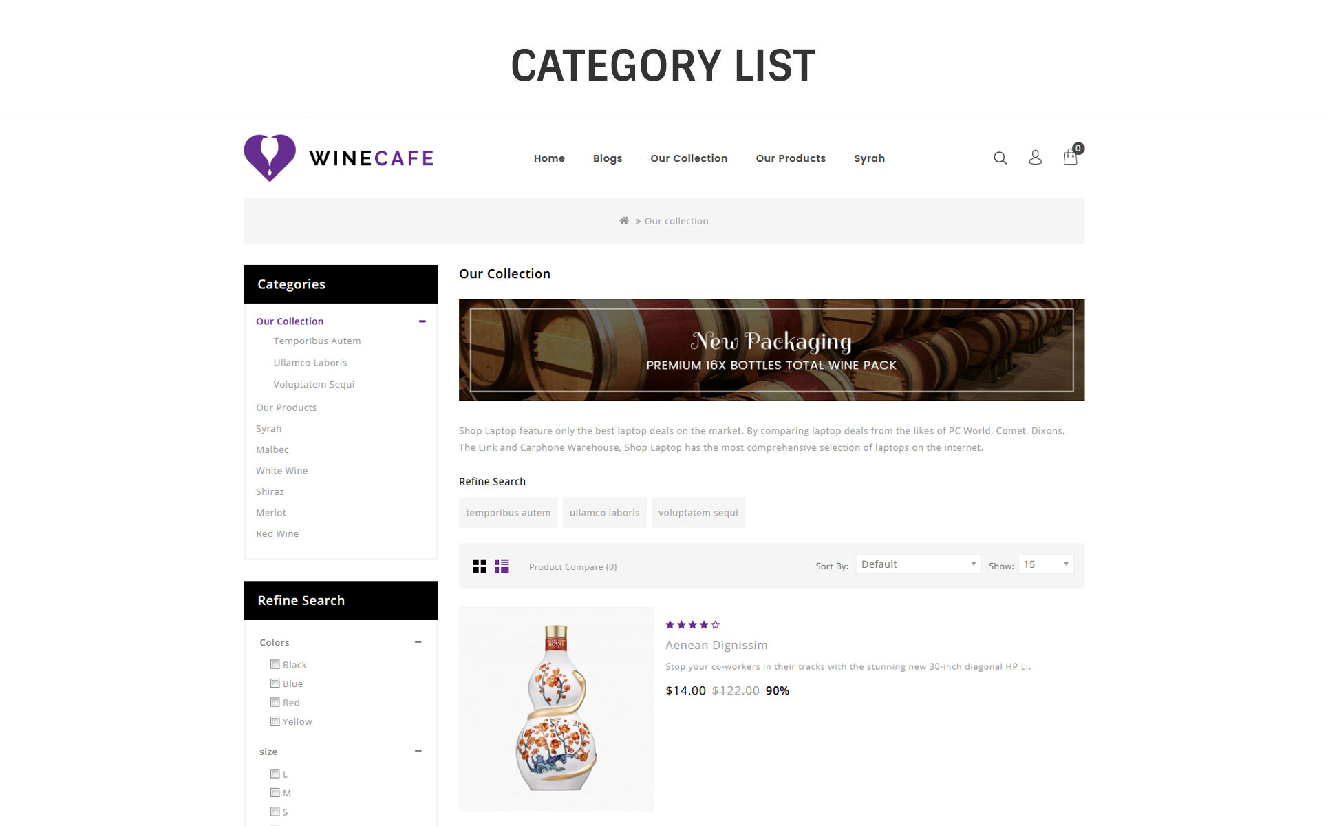 Winecafe - The Bar OpenCart Template