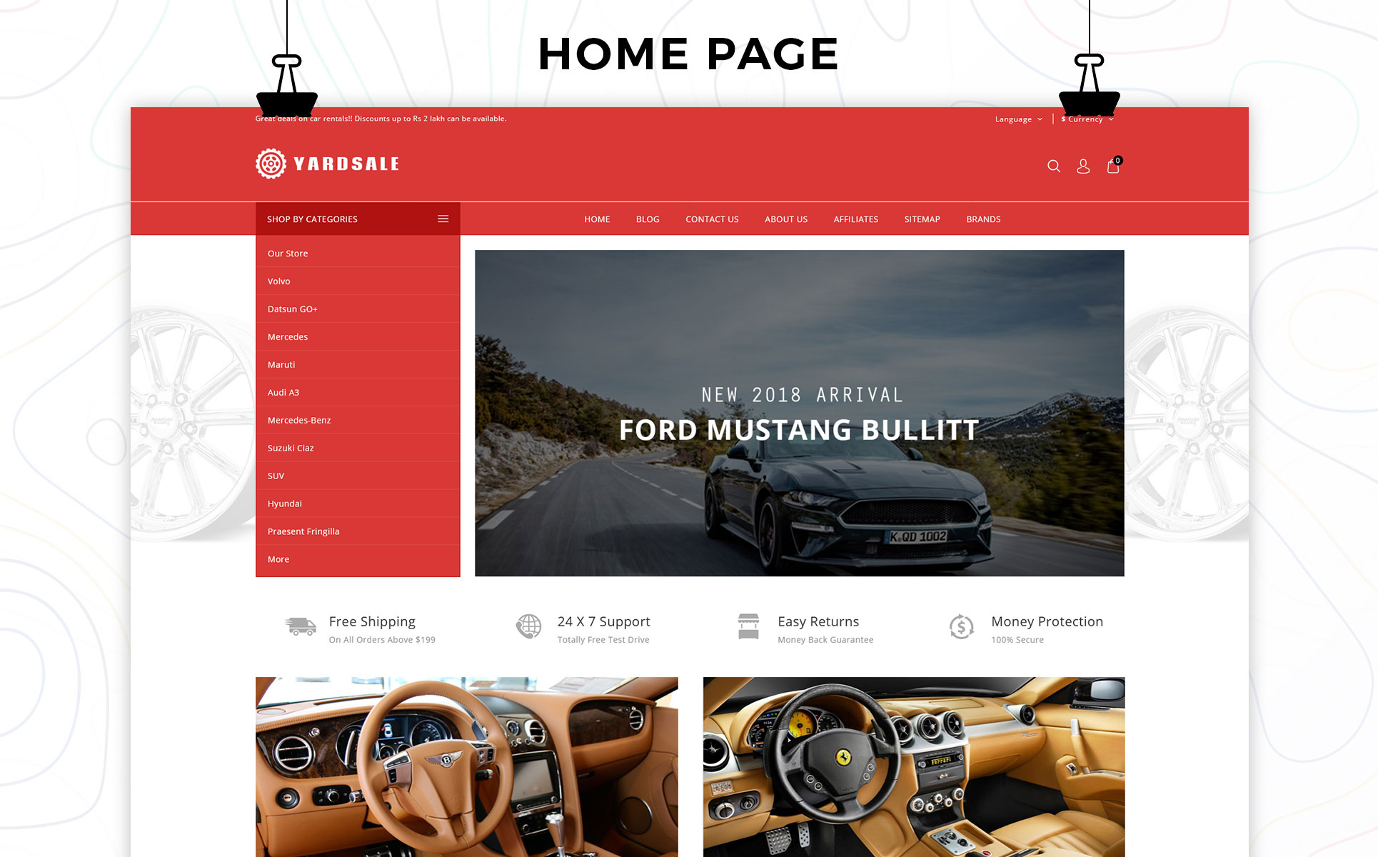 Yardsale - Automobile Store Premium OpenCart Template