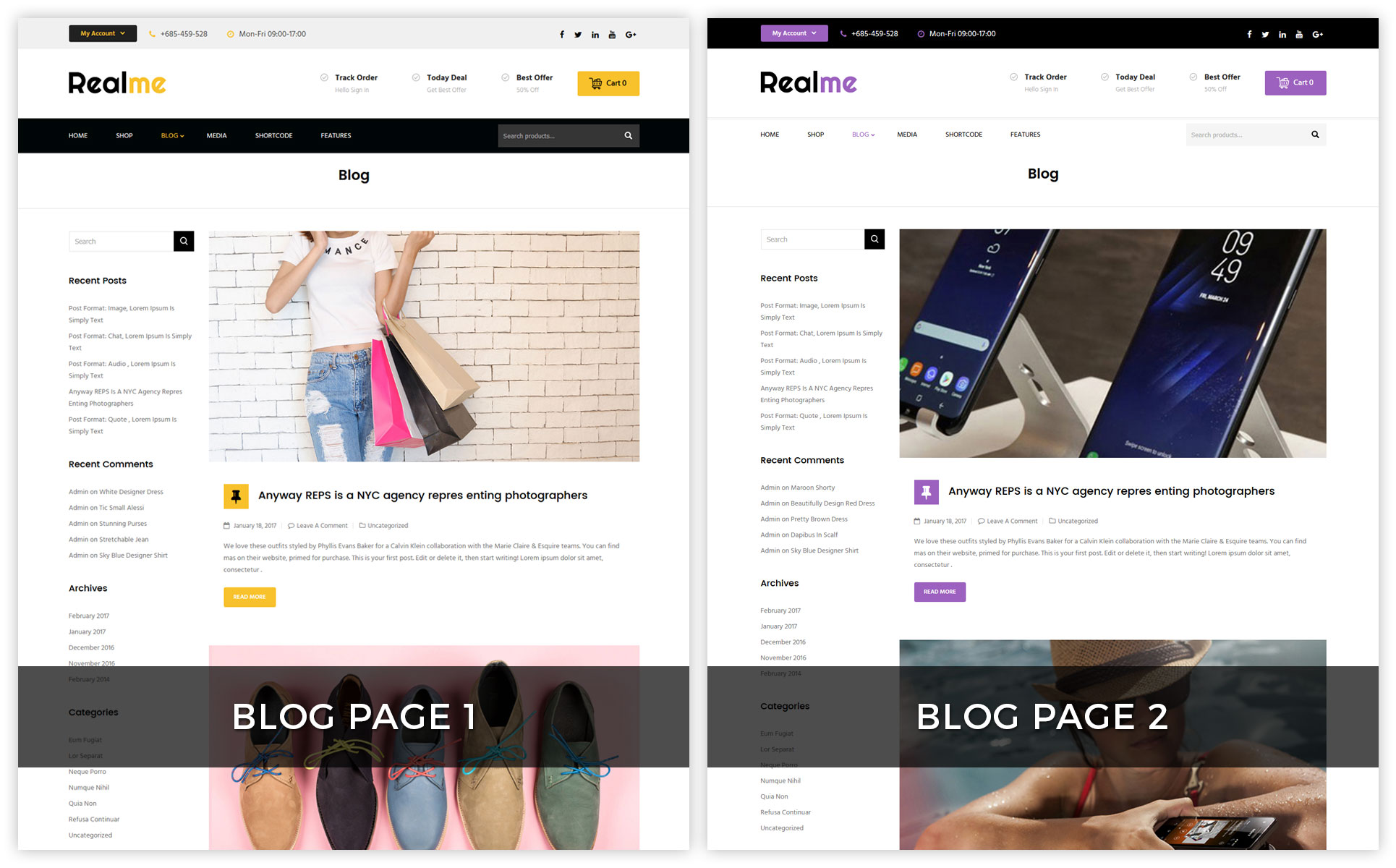 Realme Multipurpose - Responsive WooCommerce Theme
